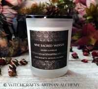 NINE SACRED WOODS Coco Apricot Crème Luxury Wax Matte White Glass Container Candle w/ Black Lid
