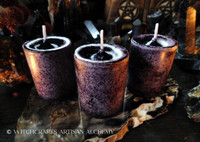 BLACKBERRY CLOVE Dark Purple Pillar Votive Candles