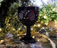RUBY RED Vintage Glass Goblet Chalice - Large