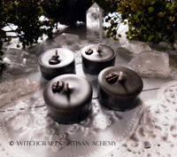 """COFFEE COVEN """"Simply Elegant"""" Coco Apricot Crème Wax Dark Expresso Brown Artisan Tealight Candles"""