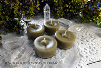 True Bayberry Wax Beeswax Soy Wax Blend Artisan Tealight Candles