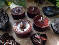 DRAGON'S BLOOD LUXE Resin Soy Paraffin Wax Blend Ox Blood Red Artisan Tealight Candles