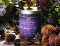 "WITCH'S BLACKBERRY BREW ""Simply Elegant"" Coco Apricot Crème Soy Luxury Wax Blend Straight Side Glass Jar Candle with Gold Tone Metal Lid"