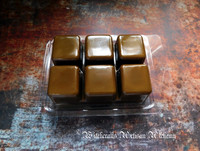 SMOLDERING OUD Highly Scented Artisan Dark Brown Soy Paraffin Wax Blend Clamshell Melts