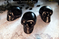 BLACK SKULLS Highly Scented Skull Shaped Wax Tarts, Set of 3