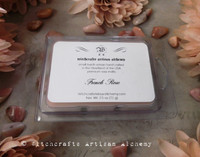 FRENCH ROSE Highly Scented Artisan Elegant Dusty Blush Pink Soy Paraffin Wax Blend Clamshell Melts