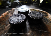 BLACK CAULDRON BREW Glittery Black Diamond Shimmer Dusted Highly Scented Rounders Wax Melts, Set of 3