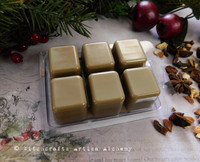 OLD ENGLISH WASSAIL Highly Scented Artisan Beige Soy Paraffin Wax Blend Clamshell Melts