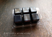 SHIELD WALL Highly Scented Black Artisan Soy Paraffin Wax Blend Clamshell Melts