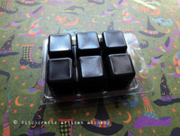 HOCUS POCUS Highly Scented Black Artisan Soy Paraffin Wax Blend Clamshell Melts