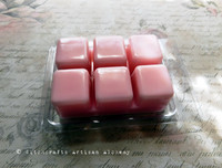 NAUGHTY Softly Sexy Alluring Pink Highly Scented Artisan Soy Paraffin Wax Blend Clamshell Melts