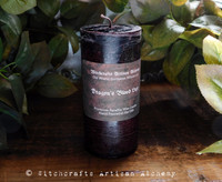 DRAGON'S BLOOD LUXE Old European Witchcraft Dark Resin Red Brown Pillar Candle