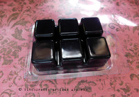 DARK FAIRY Black Highly Scented Artisan Soy Paraffin Wax Blend Clamshell Melts