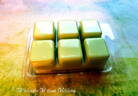 SUMMER MEADOW Highly Scented Summertime Green Yellow Artisan Soy Paraffin Wax Blend Clamshell Melts