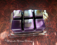 BLACKBERRY FRANKINCENSE Highly Scented Dark Purple Artisan Soy Paraffin Wax Blend Clamshell Melts