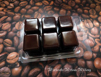 COFFEE COVEN Highly Scented Dark Brown Artisan Soy Paraffin Wax Blend Clamshell Melts