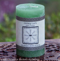 MONEY LUCK Signature Spell Candle by Witchcrafts Artisan Alchemy