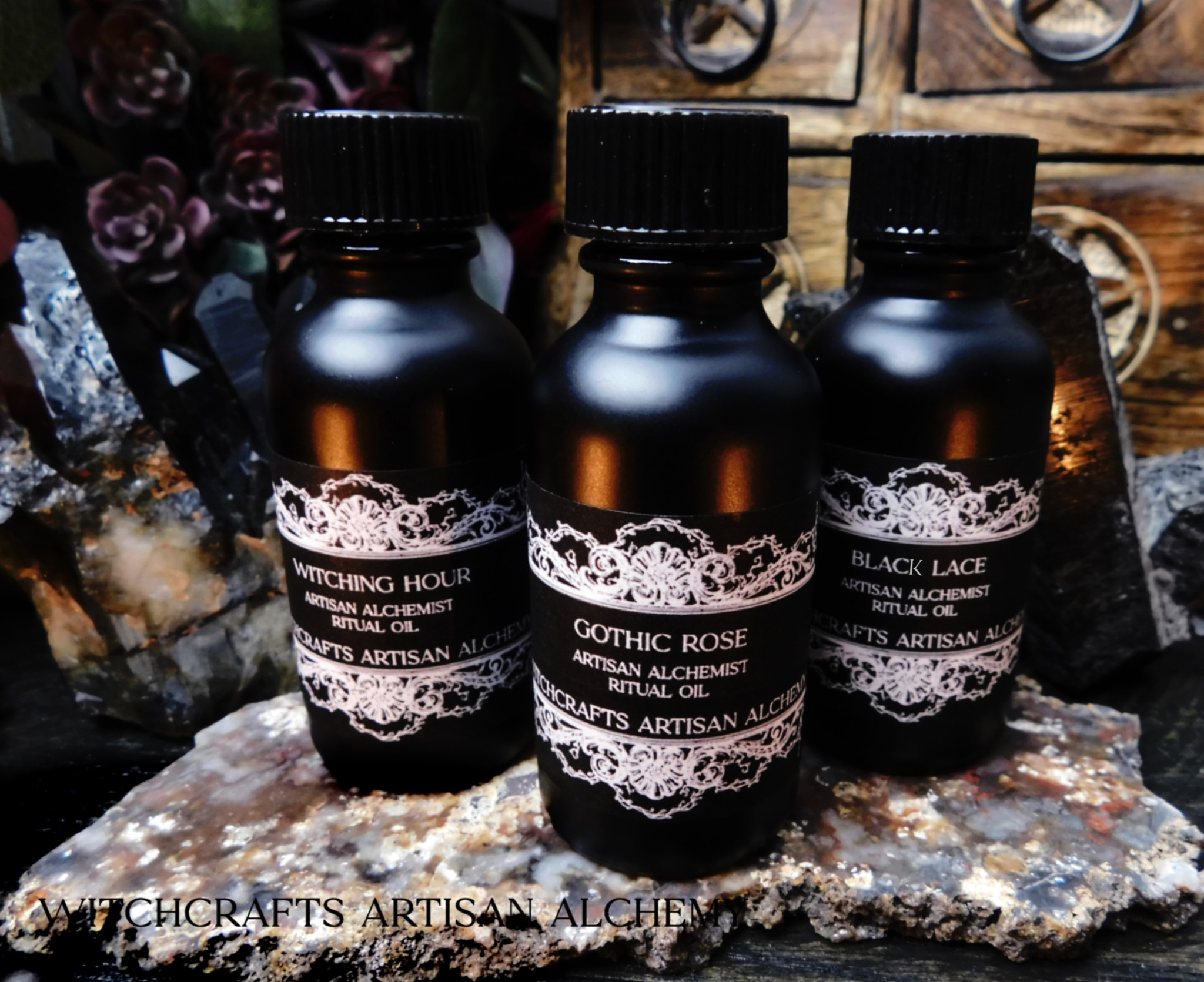 Gothic Black Bottle Oils