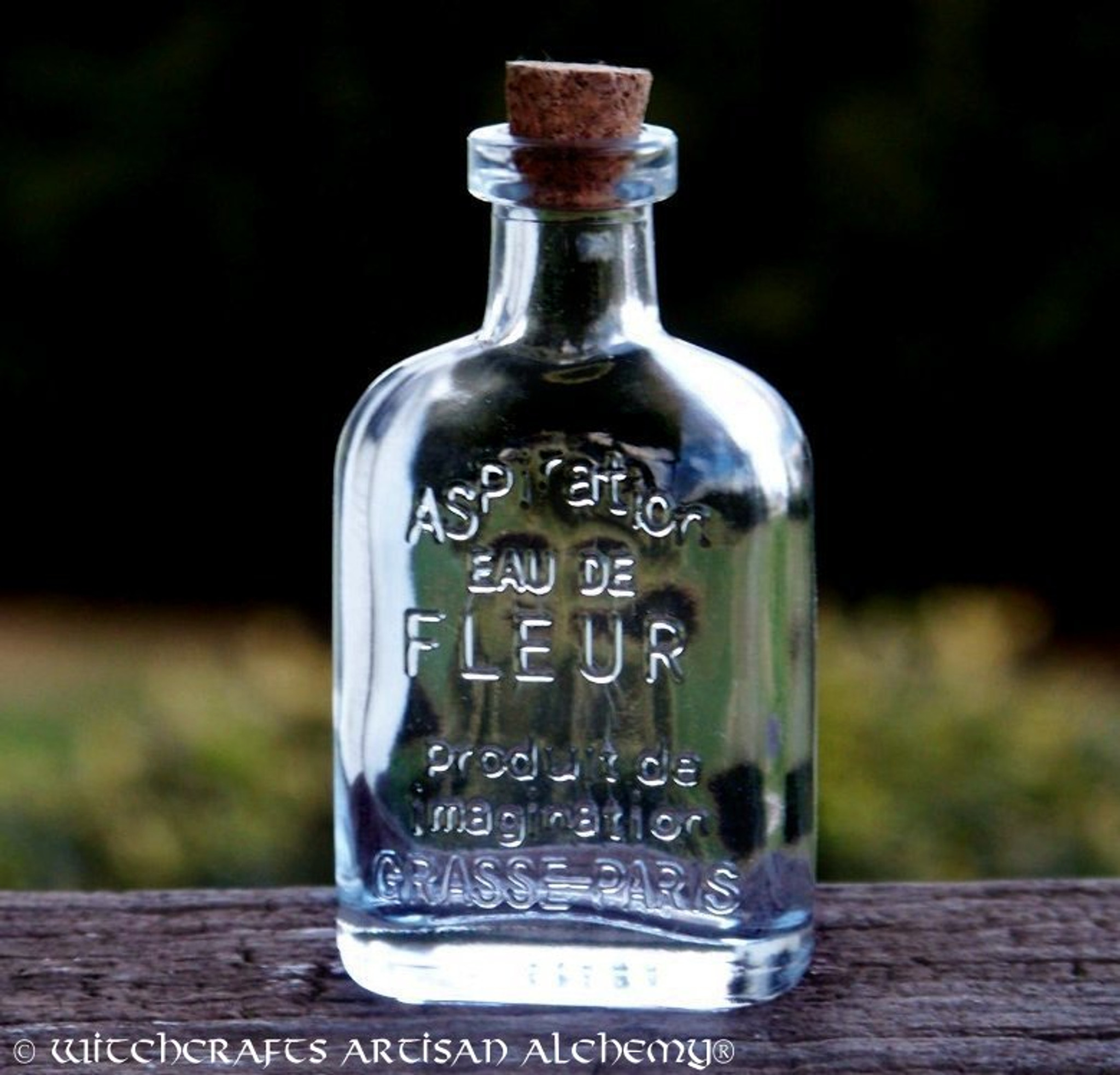 673136a06271 Crystal Clear Glass Corked Apothecary Style Magic Potion Bottle 45ml