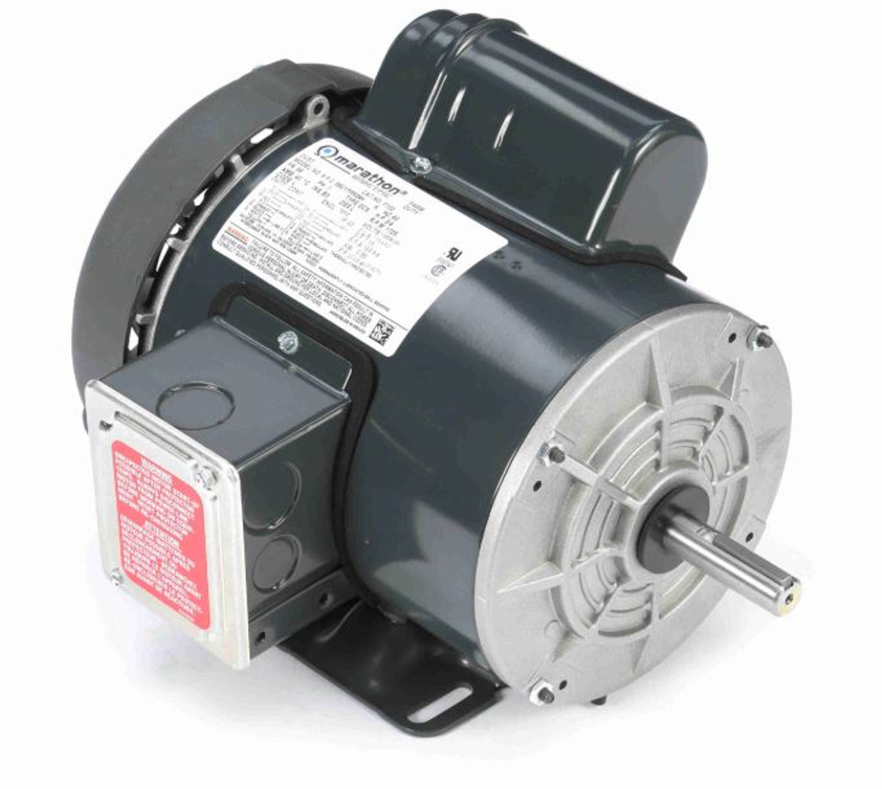 3  4 Hp 1725 Rpm 56 Frame Tefc  Farm Duty 115  208-230v Marathon Electric Motor   F103