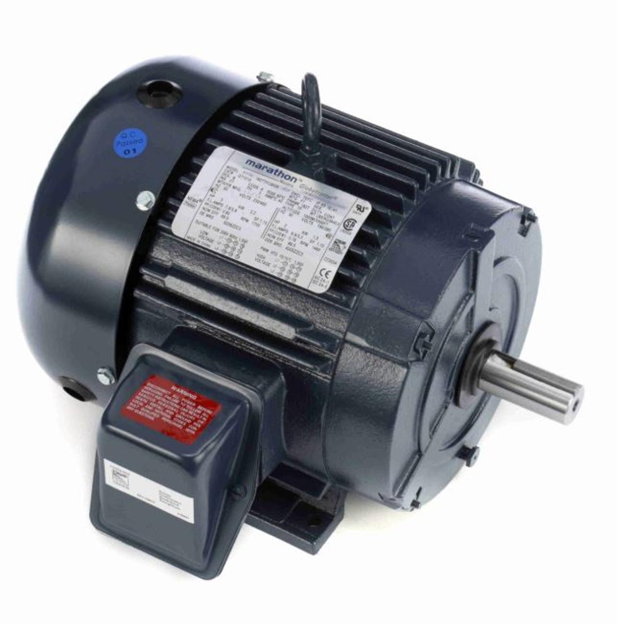 marathon 1 3 hp motor wiring diagram 3 hp 1800 rpm 182t frame 230 460v tefc leeson marathon electric  3 hp 1800 rpm 182t frame 230 460v tefc