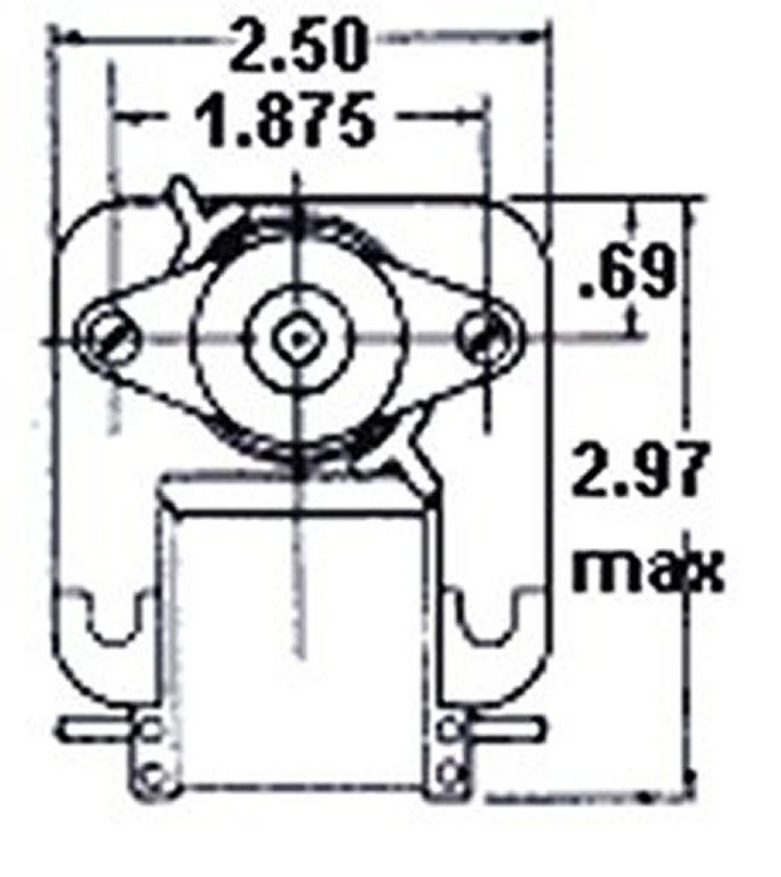 Fasco C-Frame Vent Fan Motor .47 amps 3000 RPM 115V # K130