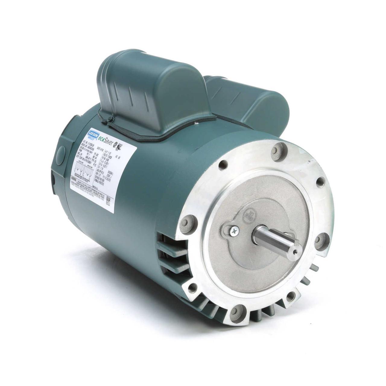 Electric Motor 1.5HP 56C 1 phase TEFC 115//230V 3600RPM 60Hz Keyed shaft