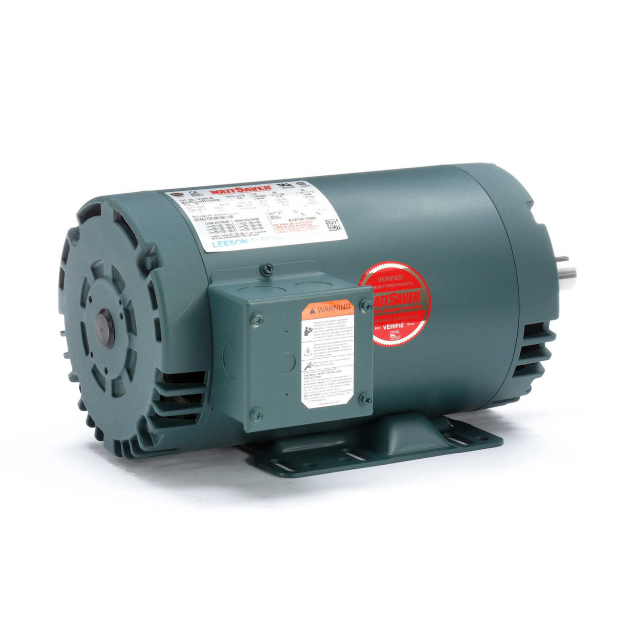 2hp 1725 Rpm 145t Frame 208 460 Volts Open Drip Leeson Electric Motor   121005