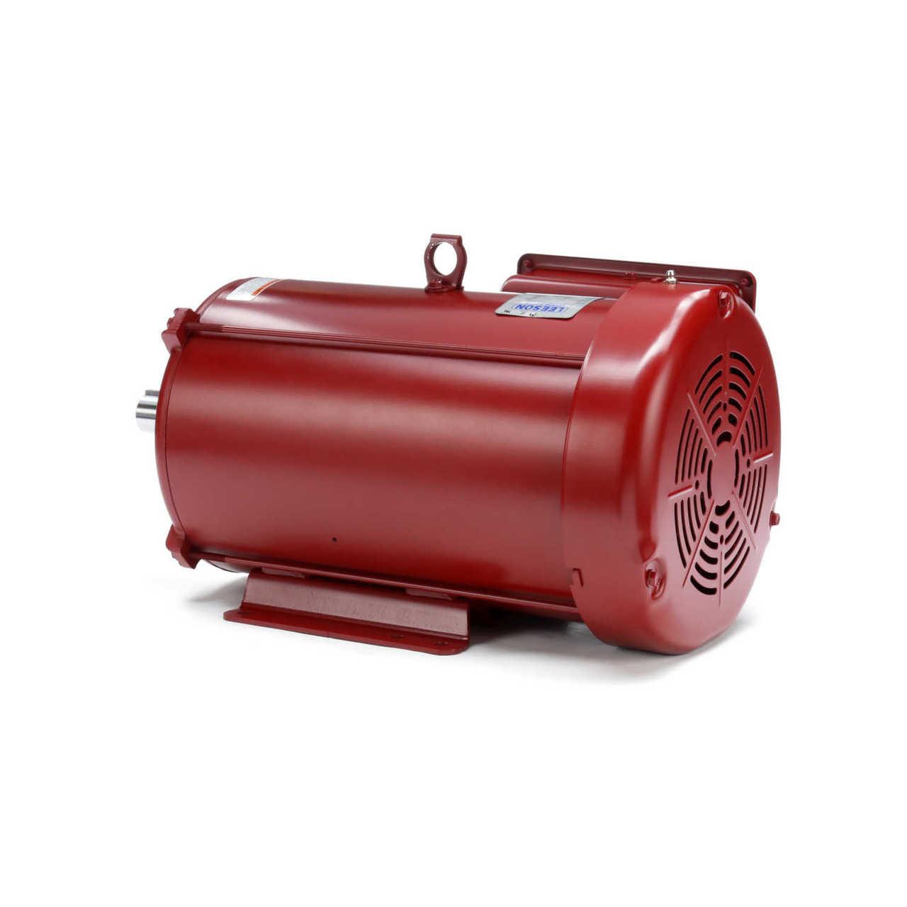 7 5 Hp 1740 Rpm 215t Frame 230volts  Farm Duty  Extra High Torque Leeson Electric Motor   141434