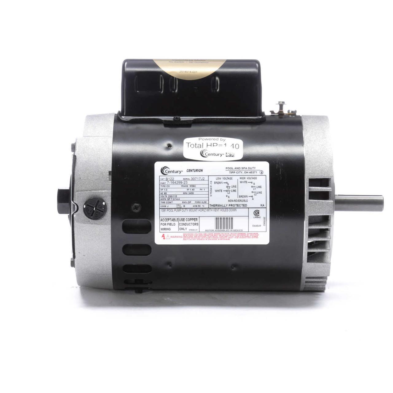B40 Century 40 hp 40 RPM 40C Frame 40405/40V Swimming Pool   Jet Pump  Motor Century  B40