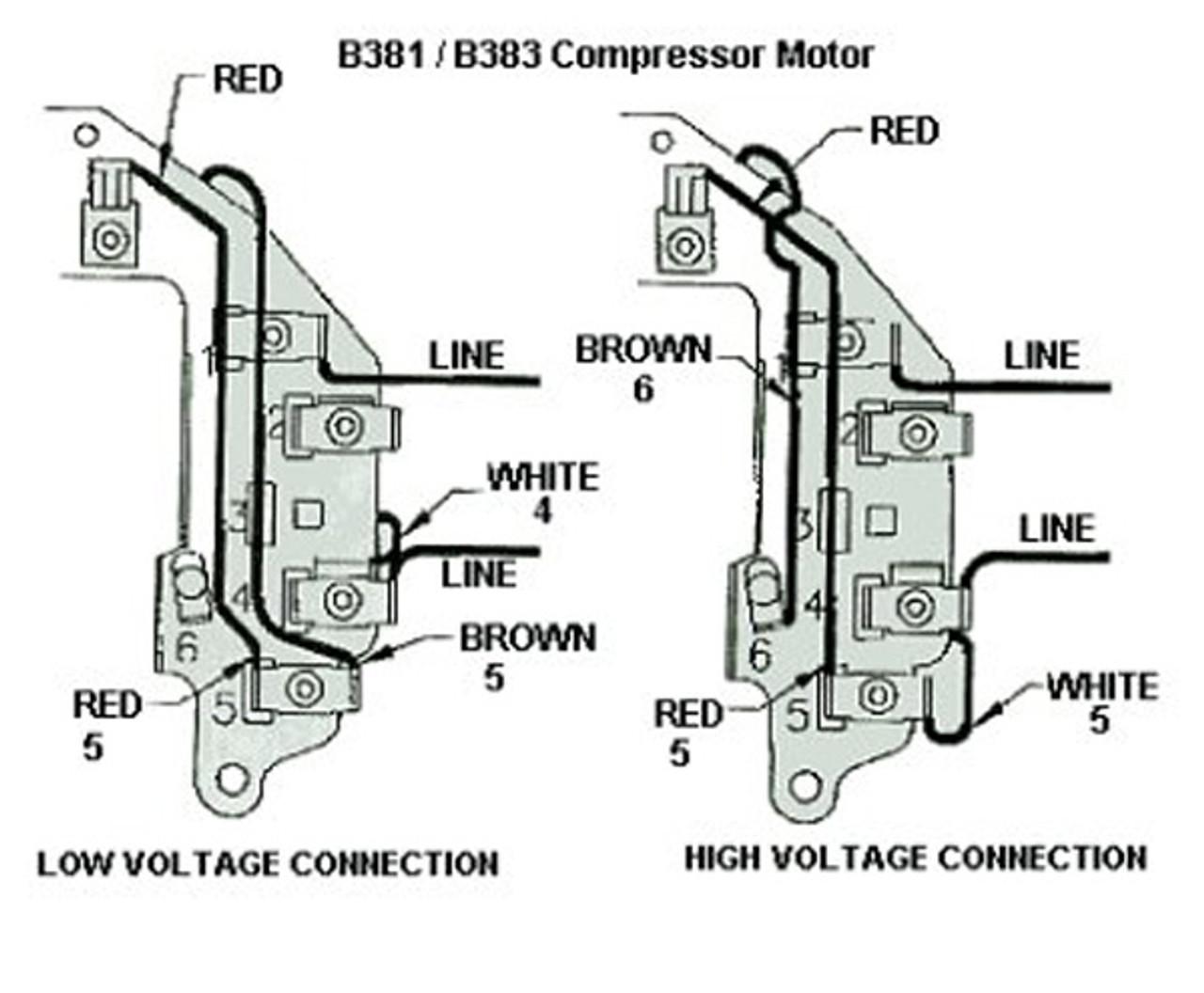 3 HP SPL 3450 RPM U56 Frame 115/230V Air Compressor Motor - Century # B383Electric Motor Warehouse
