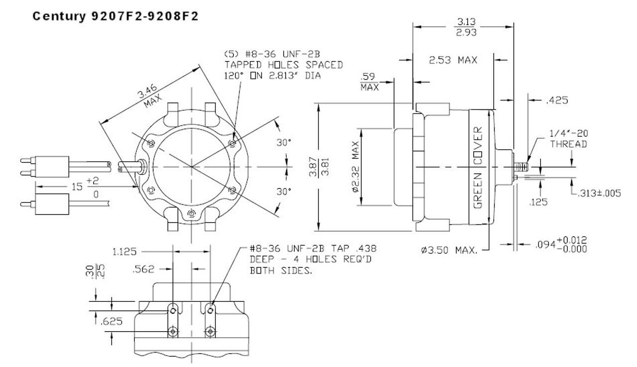 3-N-1 Refrigeration Fan Motor 12 Watt 1550 RPM 115V ECM
