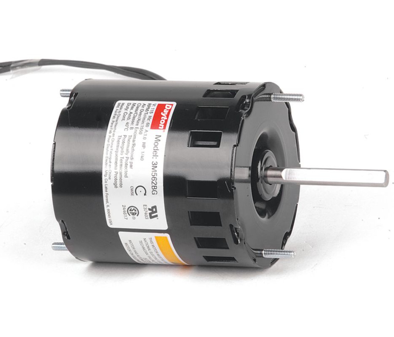 1  40 Hp  1550 Rpm  115 Volt  3 3 U0026quot  Diameter Dayton Electric