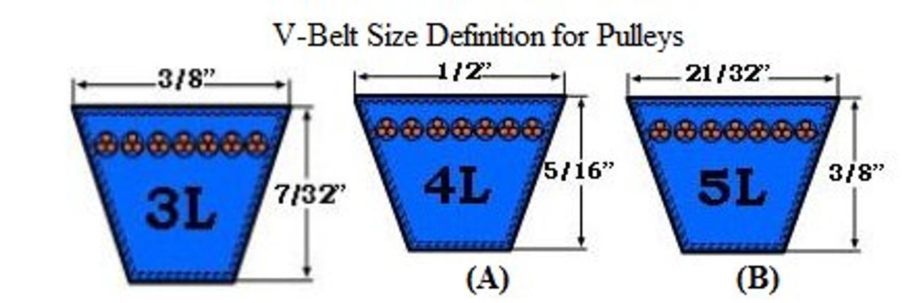 2AK32x1-1//8 V-Belt Pulley 2 Grooves