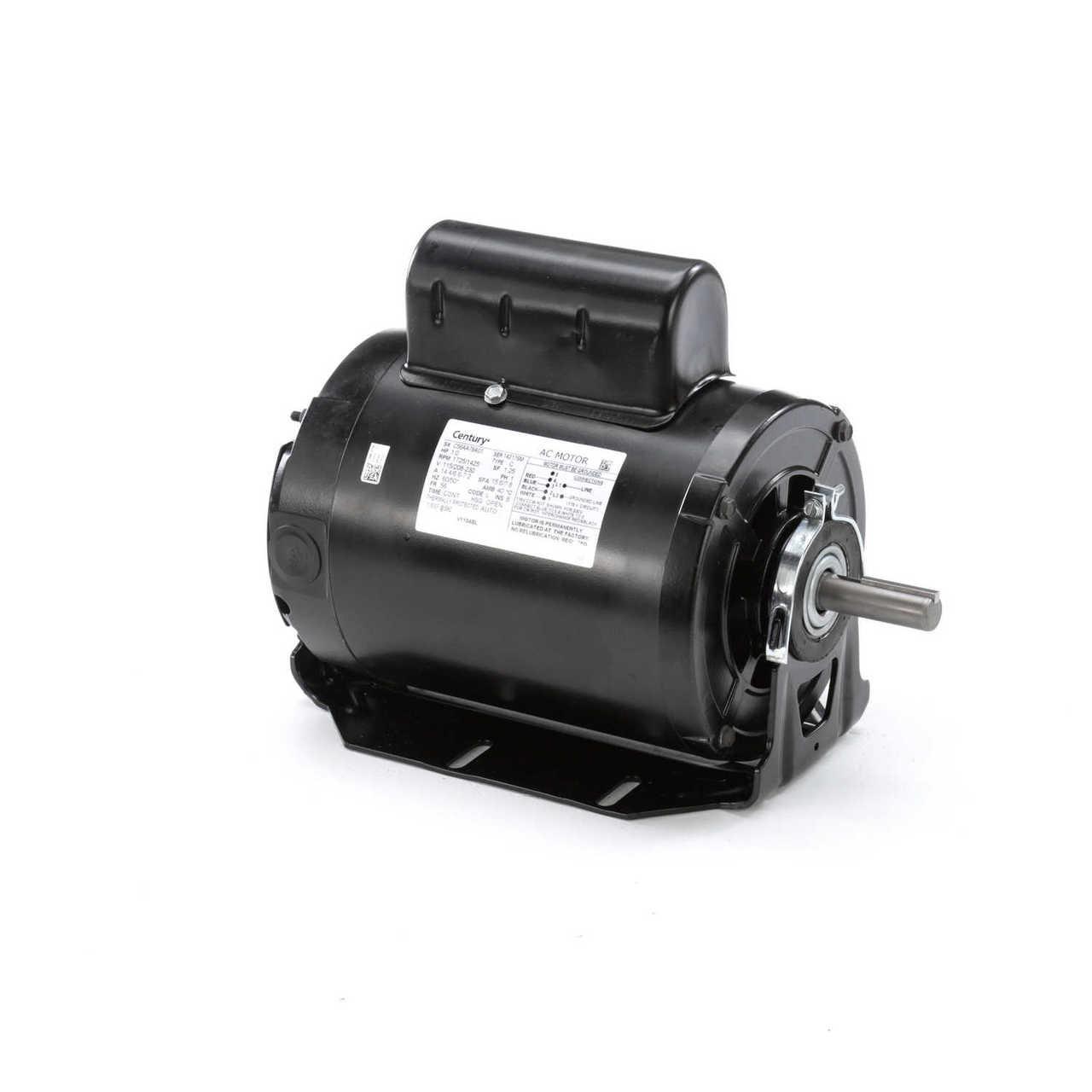 Evaporative Cooler Motor 1 Hp 1725 Rpm 56z Frame 115  230v