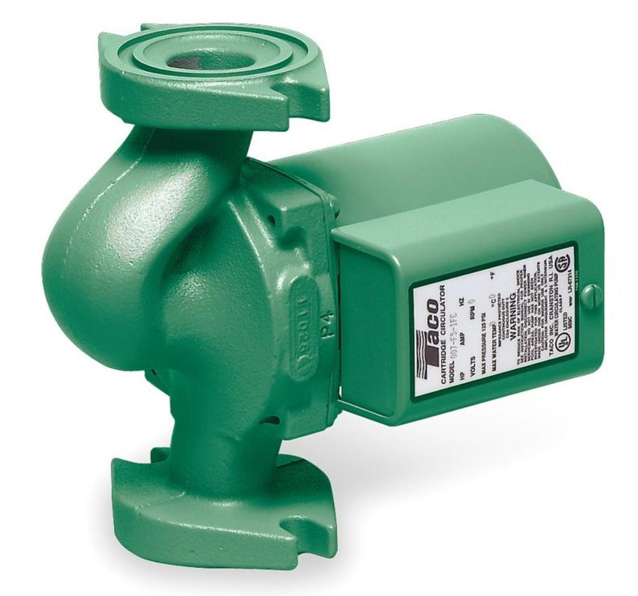 Taco Hot Water Circulator Pump Model 007-F5-9iFC; 115V