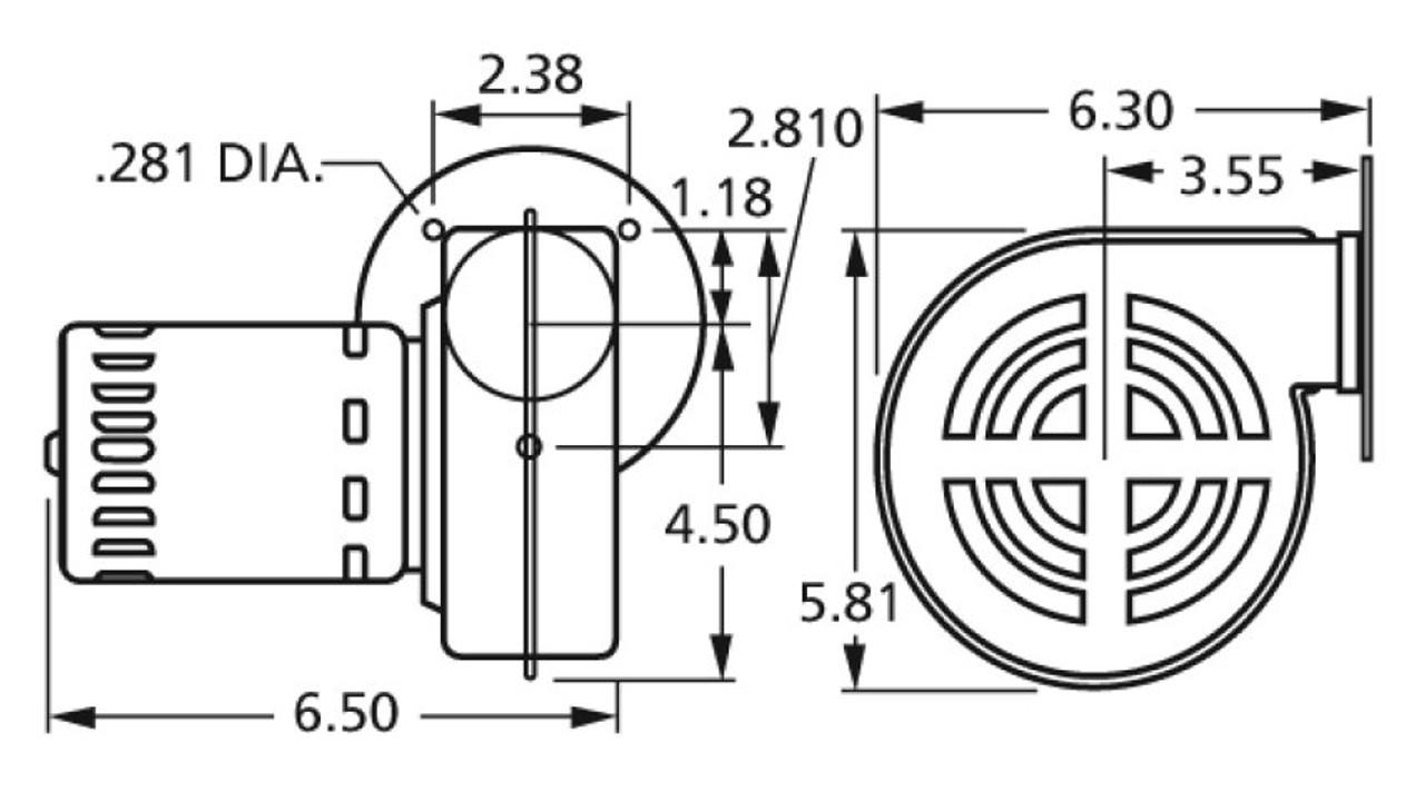 Fasco 50748-D700 Centrifugal Blower 115 Volts (7021-4814
