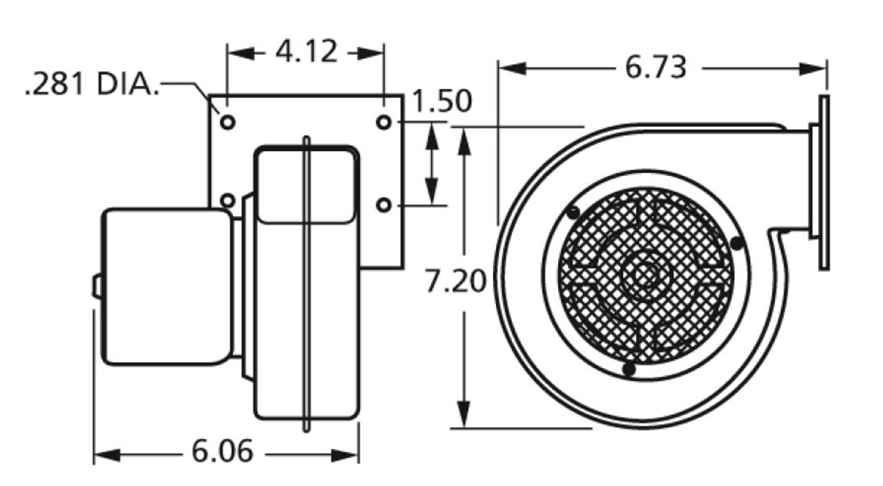 Centrifugal Blower 115V Fasco # 50752-D500 (Dayton Ref