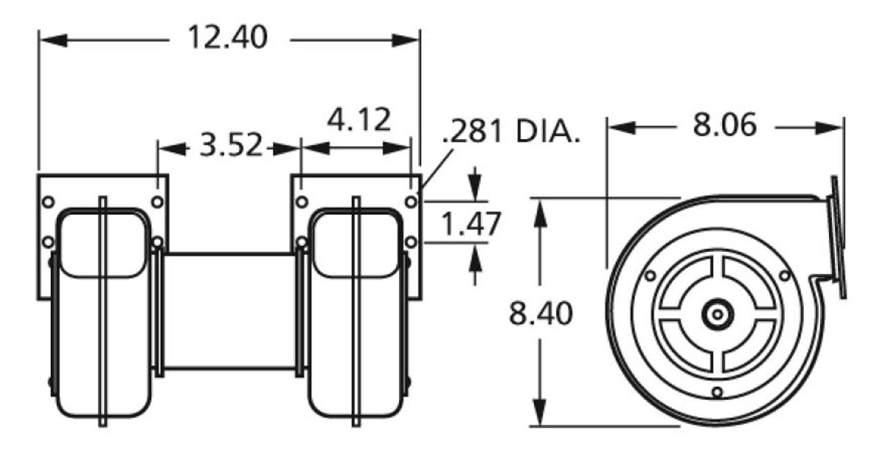 Fasco 50756-D500 Centrifugal Blower 115 Volts