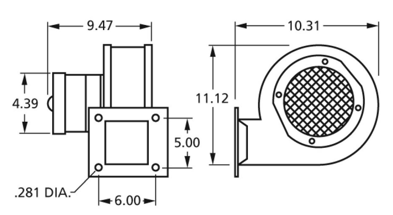 Fasco 50769-D230 Centrifugal Blower 230V 2-Speed