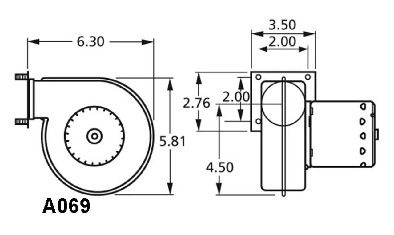 Fasco A069 Centrifugal Blower (Trane) 208-230 Volts