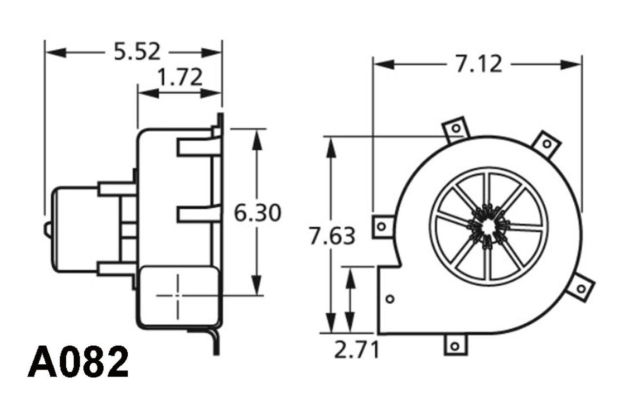 Centrifugal Furnace Blower (Draft Inducer) 115 Volts Fasco