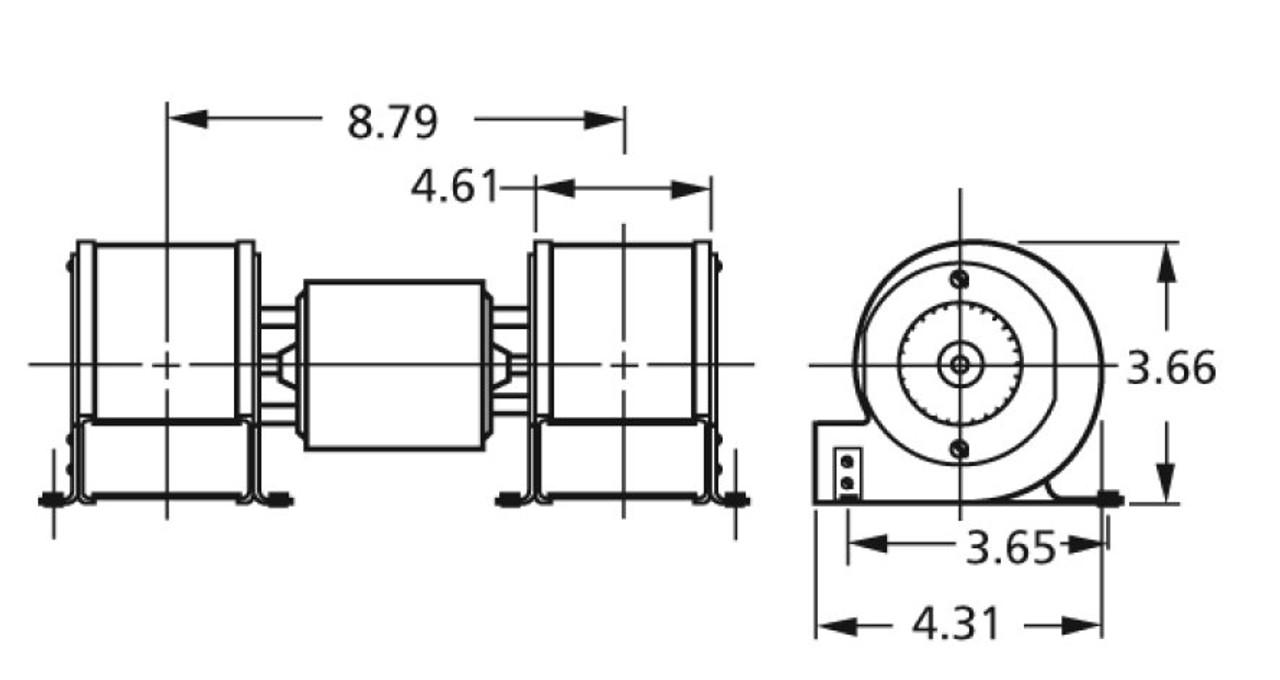 Centrifugal Blower 3200 RPM; 115 Volts Fasco # A125