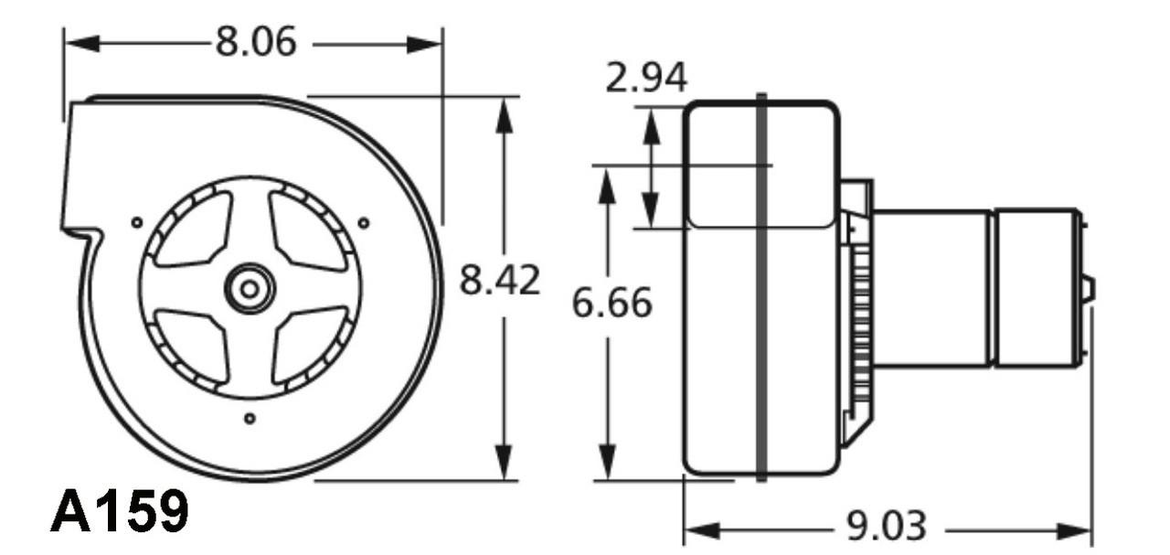 Fasco A159 Fedders (11-7095, AK4K84BX, 7073-0565) Blower