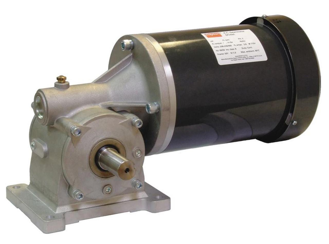 Dayton Gear Motor 2 Hp 155 Rpm 203 460 Volt 3 Phase