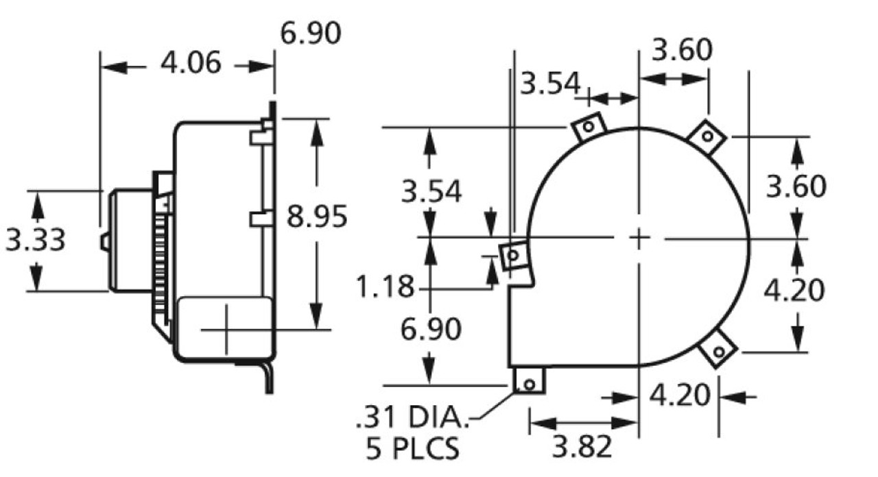 Draft Inducer Blower 115 Volts 3-Speed Fasco # B47120