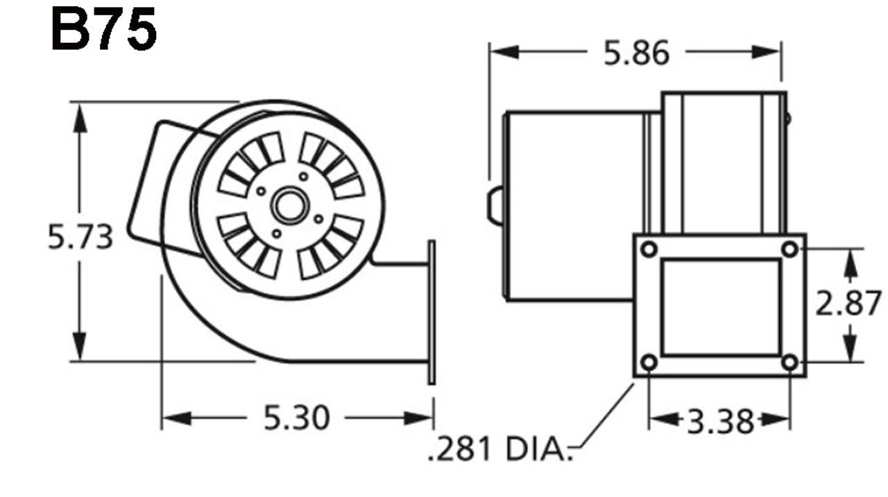 Centrifugal Blower 115 Volts Fasco # B75 (Dayton Reference