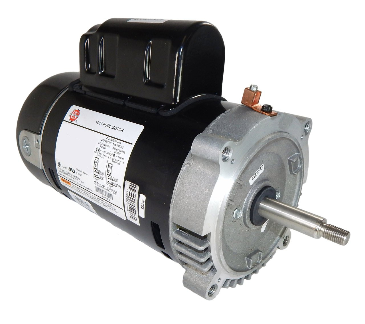 Est1202 2 Hp 3450 Rpm 56j Frame 208 230v Energy Efficient Swimming Pool Motor Us