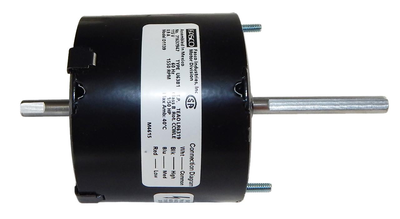1/50 hp 1550 RPM 3-Sd CW 3.9