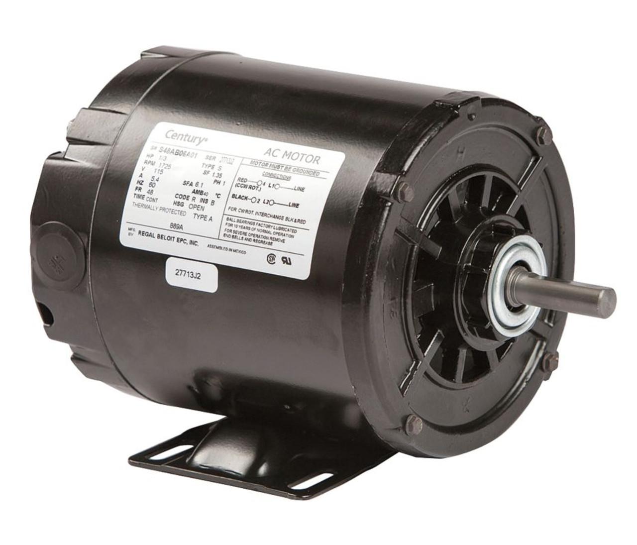 1  3 Hp 1725 Rpm 48 Frame 115v Split Phase Rigid Base Motor
